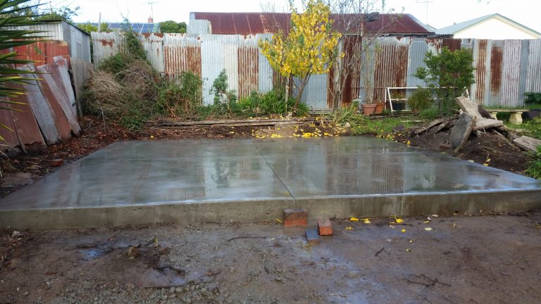 Double shed slab after