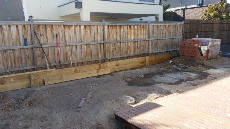 Retaining walls before 2